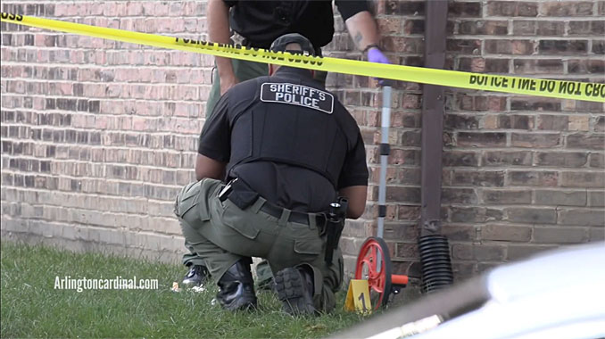Cook County Sheriff's Office shots fired investigation on Nichols Road near Jennifer Lane at Country Glen Apartments