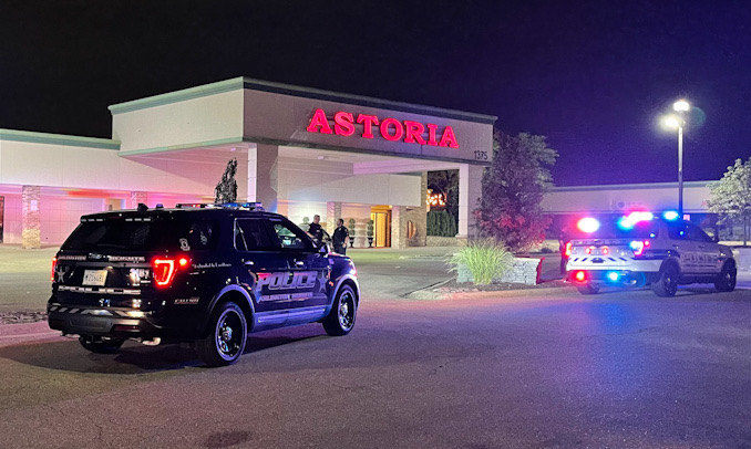 Arlington Heights and Buffalo Grove police at the scene of a fight at Astoria Banquets on Dundee Road in Buffalo Grove