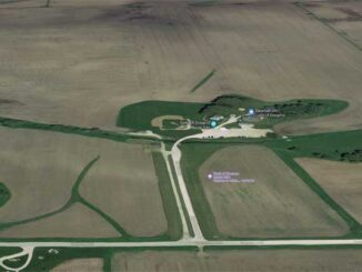 Field of Dreams Movie Site not showing the temporary stadium for the White Sox vs Yankees game on Thursday, August 12, 2021 (Imagery ©2021 Google, Imagery ©2021 City of Dubuque, Maxar Technologies, USDA Farm Service Agency, Map data ©2021)