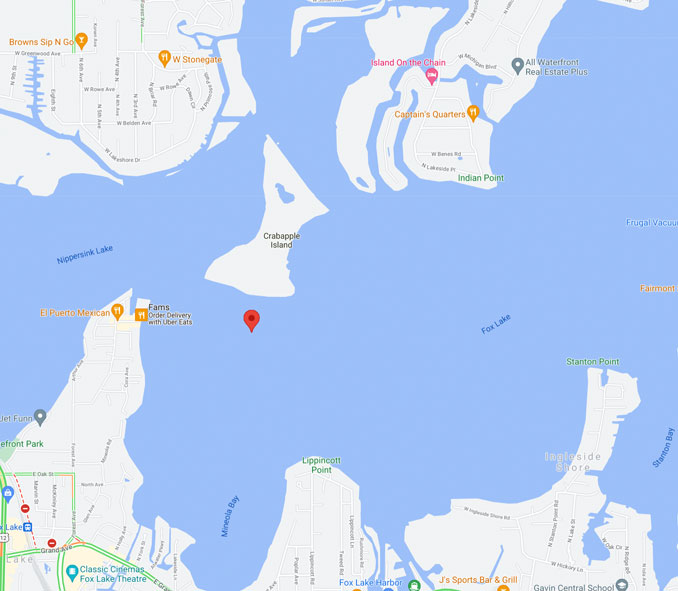 Map Fox Lake Rescue on Friday, August 20, 2021 (Map data ©2021 Google)