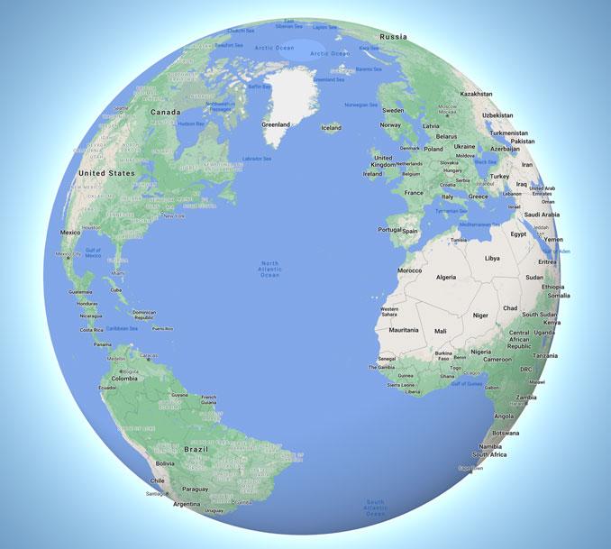 Hungary, global view (Map data ©2021 Google, INEGI)