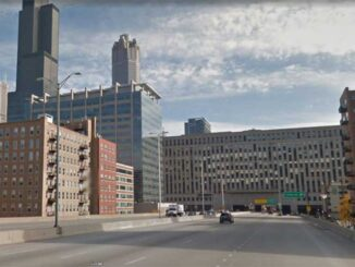 I-290 EAST and Canal Street Chicago just before the old US Post Office (Image capture: October 2014 ©2021 Google)