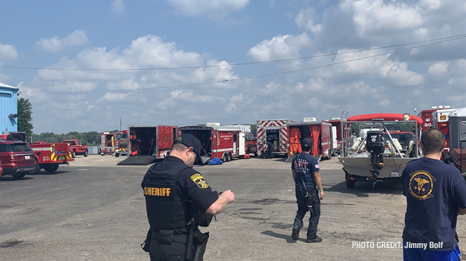Mutual aid staging at Fox Lake water rescue/recovery (PHOTO CREDIT: Jimmy Bolf)