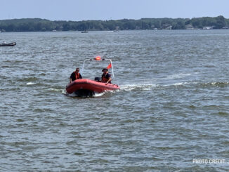 Boat at Fox Lake water rescue/recovery (PHOTO CREDIT: Jimmy Bolf)