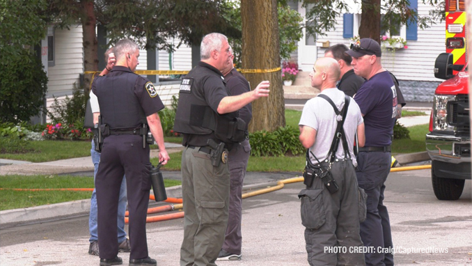 Libertyville fatal fire scene Friday morning, Augusts 13, 2021