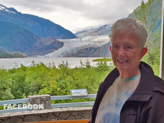 Janet Kroll at Mendenhall Glacier Park located about 12 miles north-northwest of downtown Juneau, Alaska (SOURCE: Facebook)