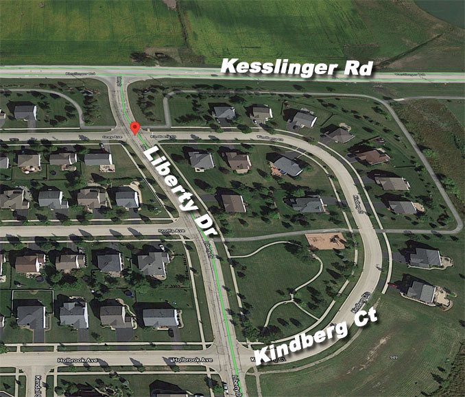Kindberg Court in Elburn, Illinois (Imagery ©2021 Google, Imagery ©2021 Maxar Technologies, U.S. Geological Survey, Map data ©2021 Google)
