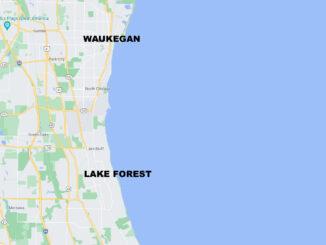 Lake Michigan fromo Waukegan to Lake Forest (SOURCE: Map data ©2021 Google)