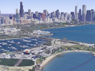 Northerly Island in Chicago, Illinois (SOURCE: Imagery ©2021 Google, TerraMetrics, NOAA, Landsat / Copernicus, Imagery ©2021 CNES / Airbus, Maxar Technologies, Sanborn, U.S. Geological Survey, USDA Farm Service Agency, Map data ©2021 Google)