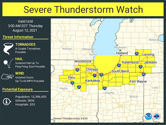 Severe Thunderstorm Watch 403 issued Wednesday, August 11, 2021 at 8:20 p.m.