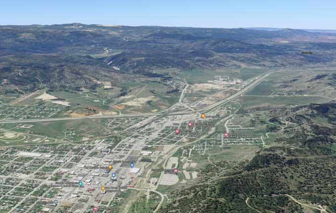 Sturgis South Dakota Aerial View (Imagery ©2021 Google, Landsat / Copernicus, Imagery ©2021 Maxar Technologies, USDA Farm Service Agency, Map data ©2021)