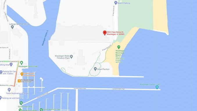 Waukegan Harbor 200 East Sea Horse Drive Waukegan (Map data ©2021 Google)