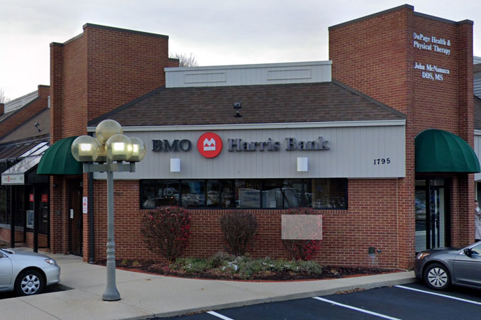 BMO Harrris Bank at Washington Street and Redstart Road in southeast Naperville