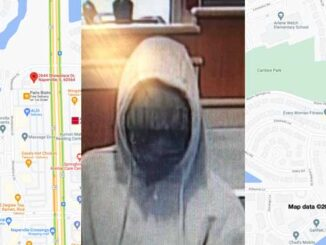 Bank robbery suspect at the Fifth Third Bank on Showplace Drive in Naperville (SOURCE: FBI/Map data ©2021 Google)