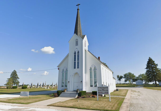 Extra alarm church fire at St. Paul's Luthern Church in Beecher, Illinois