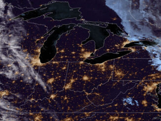 Clouds at night to the west of Chicagoland on Wednesday, September 29, 2021