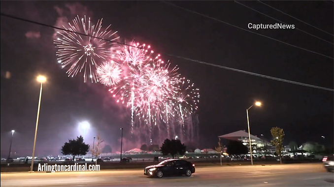 Fireworks at Arlington International Racecourse after possibly the last day of racing on Saturday, September 25, 2021