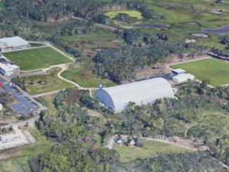 Chicago Bears headquarters Halas Hall in Lake Forest (Imagery ©2021 Google, TerraMetrics, NOAA, Landsat / Copernicus, Imagery ©2021)
