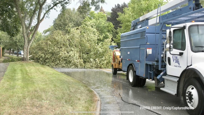 Storm damage on Deerpath Drive in Vernon Hills (SOURCE: Craig/CapturedNews)