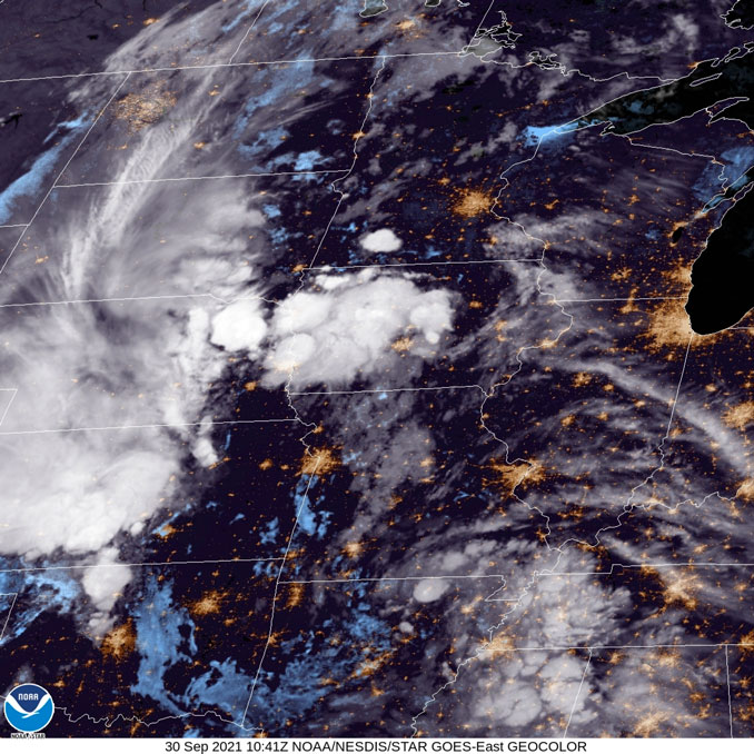 NOAA GOES East September 30 2021 at 0541 AM CDT