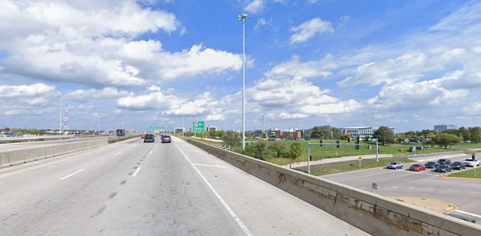 Northbound IL-53/I-290 Street View (Image captured October 2018 ©2021 Google)