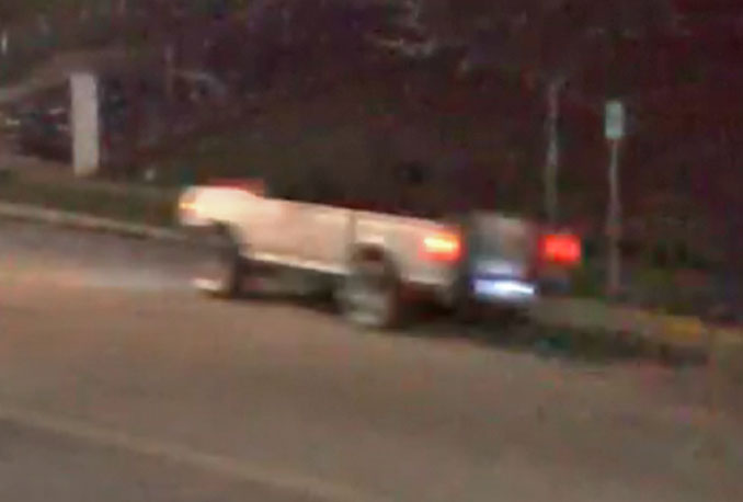 Pickup truck involved in a fatal hit-and-run crash with a pedestrian in Aurora, Illinois (SOURCE: Aurora Police Department)