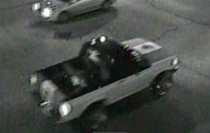 Pickup truck with a Mexican flag on the hood involved in hit-and-run crash with a pedestrian in Aurora, Illinois (SOURCE: Aurora Police Department)