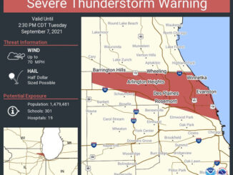 Severe Thunderstorm Warning Tuesday, September 7, 2021 issued by the NWS STORM PREDICTION CENTER (SOURCE: National Weather Service Chicago)