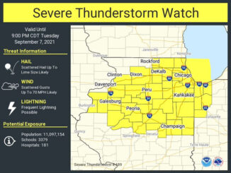 Severe Thunderstorm Watch Tuesday, September 7, 2021 issued by the NWS STORM PREDICTION CENTER (SOURCE: National Weather Service Chicago)