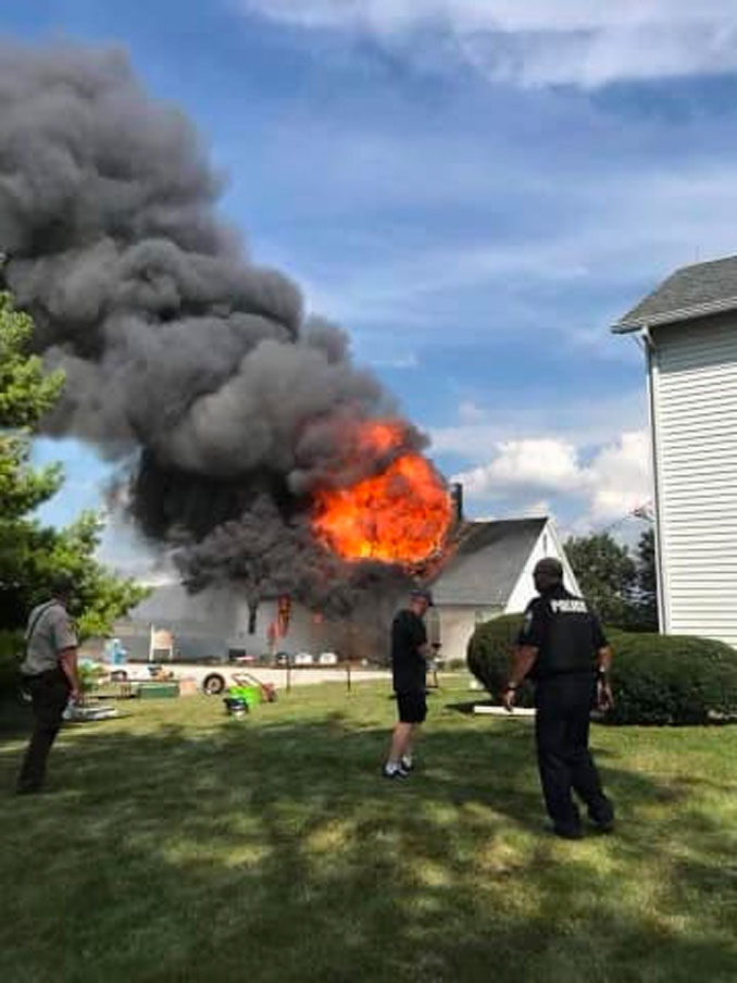 Fire at St Paul's Lutheran Church in Beecher, Illinois (SOURCE: St. Paul's Ev Lutheran Church - LCMS in Chicago Heights)