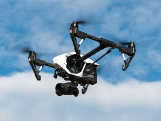 Camera drone with gimbal