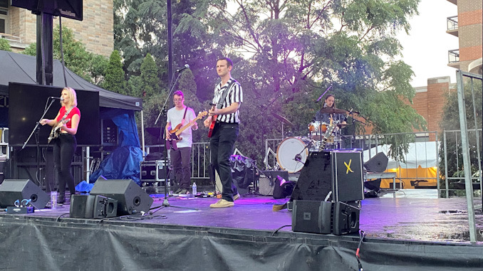 The Alright Maybes on the main stage at Harmony Fest in downtown Arlington Heights on Saturday, October 2, 2021.