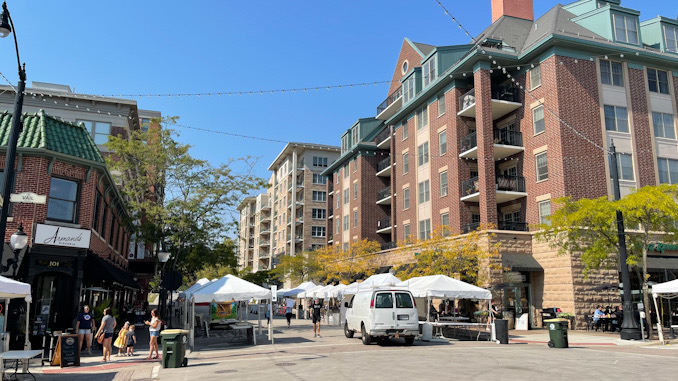 Harmony Fest setup in Arlington Heights Friday, October 1, 2021