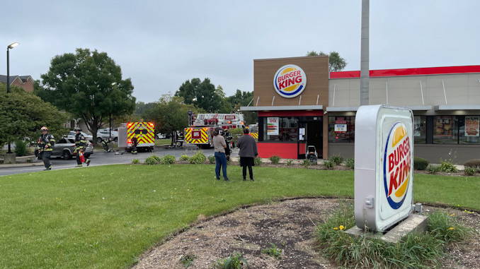Evacuation at Burger King for a kitchen fire