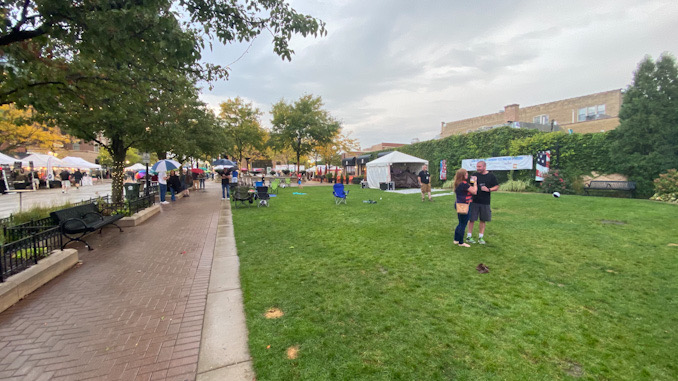 Rain is holding back the crowds at Harmony Fest, early evening on Saturday, October 2, 2021