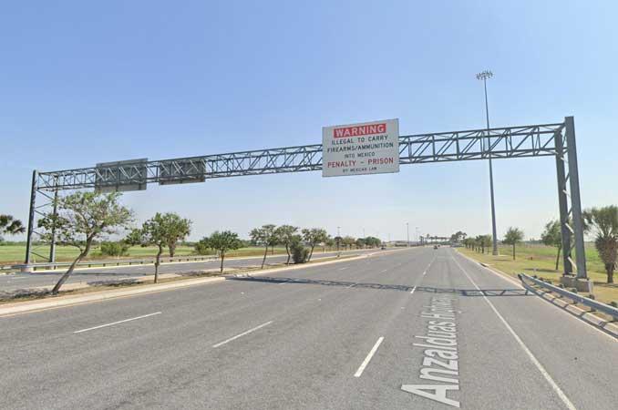 Anzalduas International Bridge south of Mission, Texas (SOURCE: Image Capture April 2021 ©2021 Google)