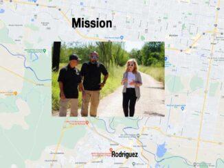 US Senator Marsha Blackburn (R-Tenn.) near Mission, Texas while visiting the Southern Border with Mexico (SOURCE: U.S. Senator Marsha Blackburn and Map data ©2021 Google)