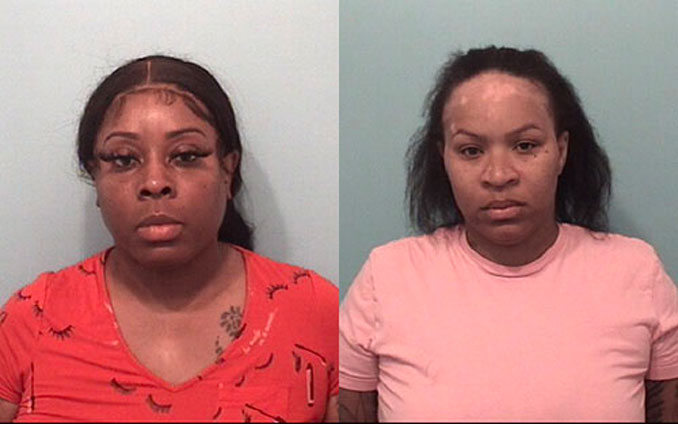 Stephanie- Brown (left) and Vosheaa Haynes (SOURCE: Naperville Police Department)