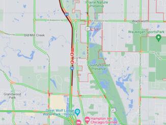 Crash Map I-94 EAST near MilePost 6.5 involving rollover semi-trailer truck (Map data ©2021 Google)