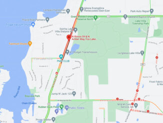 Crash map area of Route 59 and Amber Way in Fox Lake Hills, unincorporated Lake Villa (SOURCE: Map data ©2021 Google)