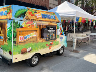 Klondike Bar truck on Campbell Street by Armand's of Arlington Heights