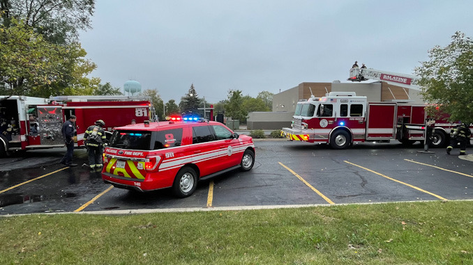 Fire command in the foreground at Burger King
